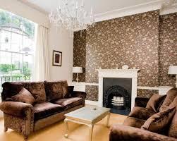 Unusual Ideas Feature Wall Wallpaper Living Room 4 Realestateurl Net