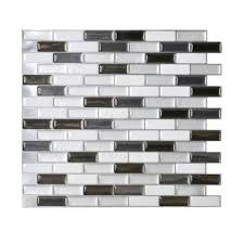 smart tiles 10 20 in x 9 10 in mosaic adhesive decorative wall