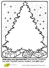 Full Image For Create Your Own Christmas Tree Coloring Page At Crayola Make