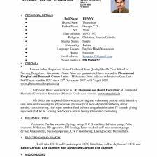 Nursing Resume Format Templates Design Cover Letter Job Rh Libroscomprar Com Best Examples For Nurses Freshers