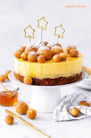 silvestertorte mit mini krapfen vanille honig creme