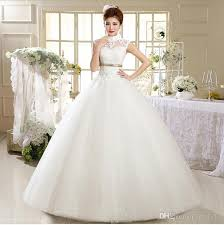 Vintage Wedding Dress White Princess China Bridal Gown Lace Collar HS537 Sexy