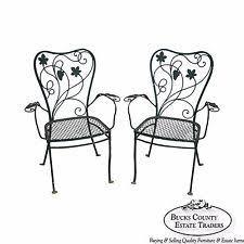Salterini Iron Patio Furniture by Wrought Iron Chairs Ebay