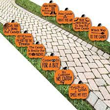 amazon com funny trick or treat pumpkin lawn decoration signs