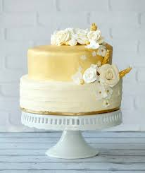 Classic Gold White And Off Cake For An Intimate Wedding In The Heart Of Bethesda