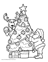 Christmas Tree Coloring Pages Santa Coloring Pages