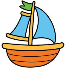 B&w clipart boat 5