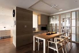 Architecture Small Classic Apartment Dining Room With Brown Interior Decoration Ideas Plus Wooden Table For