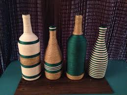 Decorative Wine Bottles Ideas by Wine Bottle Craft All You Need It Fabric Glue And You Are Done D