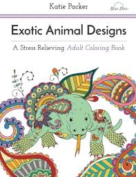 Anatomy Coloring Book Books A Million Exotic Animal Designs Stress Relieving Adult
