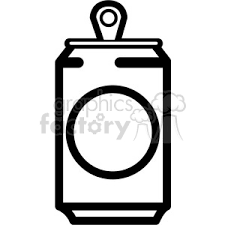 soda can icon with round label