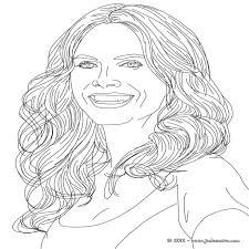 √ Coloriages Coloriage Du Top Model Allemand Heidi Klum Fr