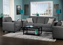 Grey Light Blue Teal Living Room
