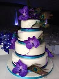 turquoise and purple wedding cake ideas Google Search