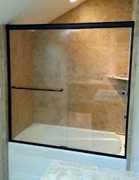 excellent frameless sliding shower door oil rubbed bronze 84 about