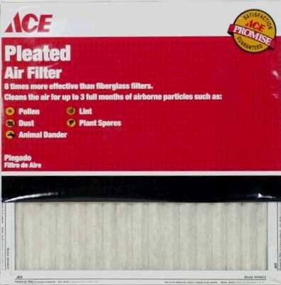 "Ace Pleated Furnace Air Filter - 24"" x 30"" x 1"""