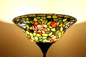 Floor Lamp Glass Shade Bowl by Floor Lamp Stained Glass Floor Lamps Canada Stained Glass Floor