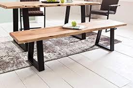 finebuy esszimmer bank fb51969 baumstamm massivholz akazie 160 x 45 x 40 cm robuste naturholz küchenbank mit hoher stabilität echtholz essbank mit