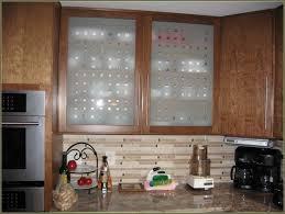 kitchen cabinet with glass doors light iron floor l