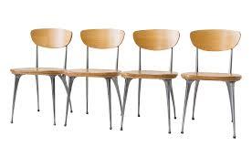 100 Birch Dining Chairs Shelby Williams GazelleLeg S4 Chairish