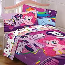amazon com my little pony 5pc full comforter and sheet set