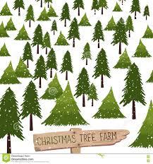 Christmas Tree Farm Vector Illustration Stock
