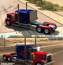 Peterbilt 389 Optimus Prime Skin For Vipers Truck Mod Mod For ...