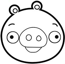 Angry Bird Pigs Is Smiling Coloring Pages