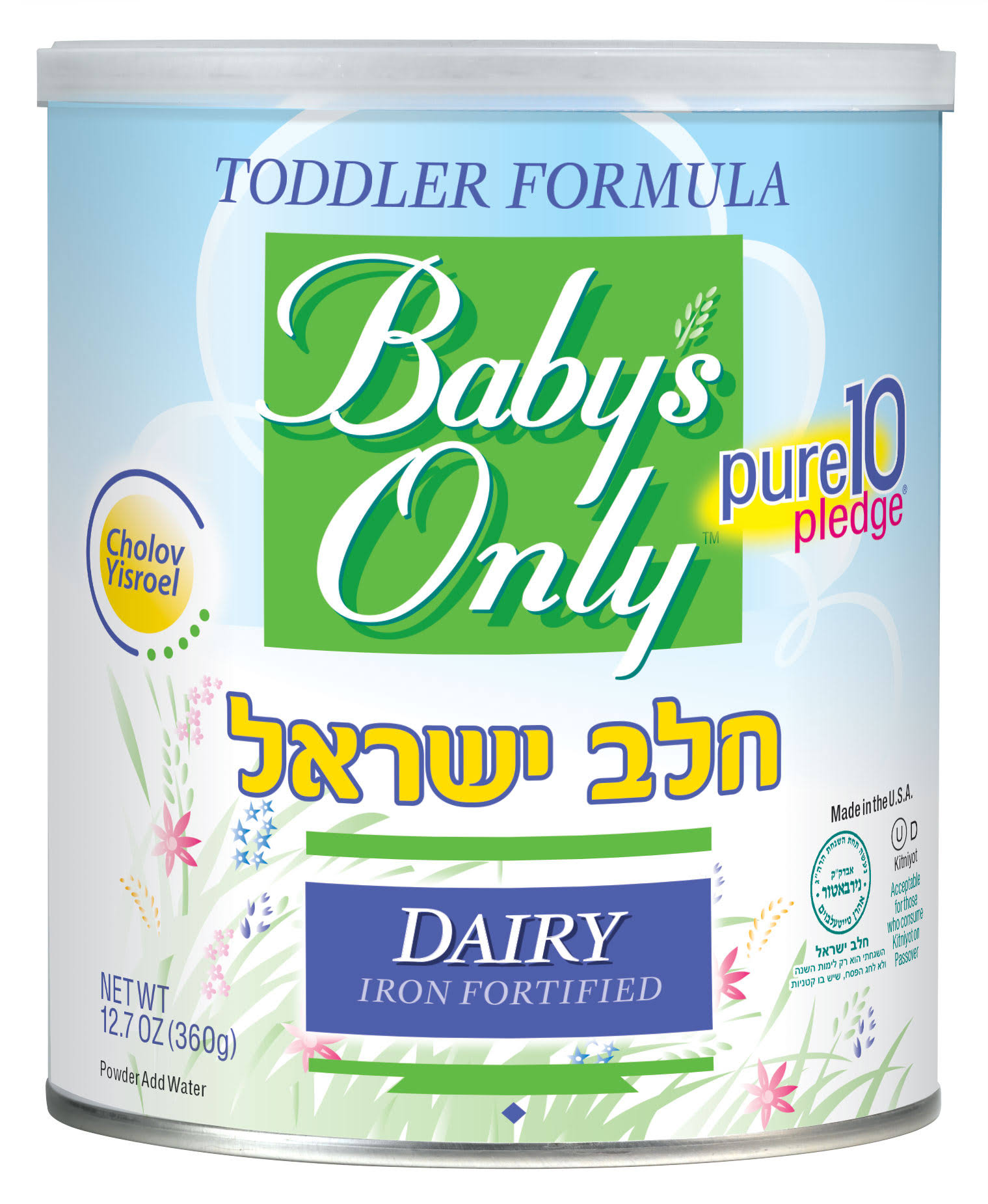Baby's Only Cholov Yisroel Dairy Toddler Formula Powder - 12.7 oz canister