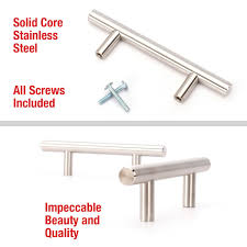 25 Inch Drawer Pulls Brushed Nickel by T Bar Kitchen Cabinet Handles 25 Pack Orders Over 40 Ship Free