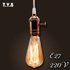 e27 st64 oule vintage edison bulb 40w 220v retro l