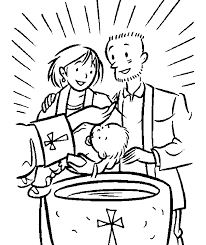 Baptism Coloring Page Home