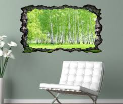 3d wandtattoo birke wald grün frühling landschaft baum selbstklebend wandbild wandsticker wohnzimmer wand aufkleber 11o221 3dwandtattoo24 de