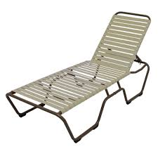 Kirklands Outdoor Patio Furniture by Grosfillex Marina Style Resin Sling Chaise Lounge Chair Wo Arms