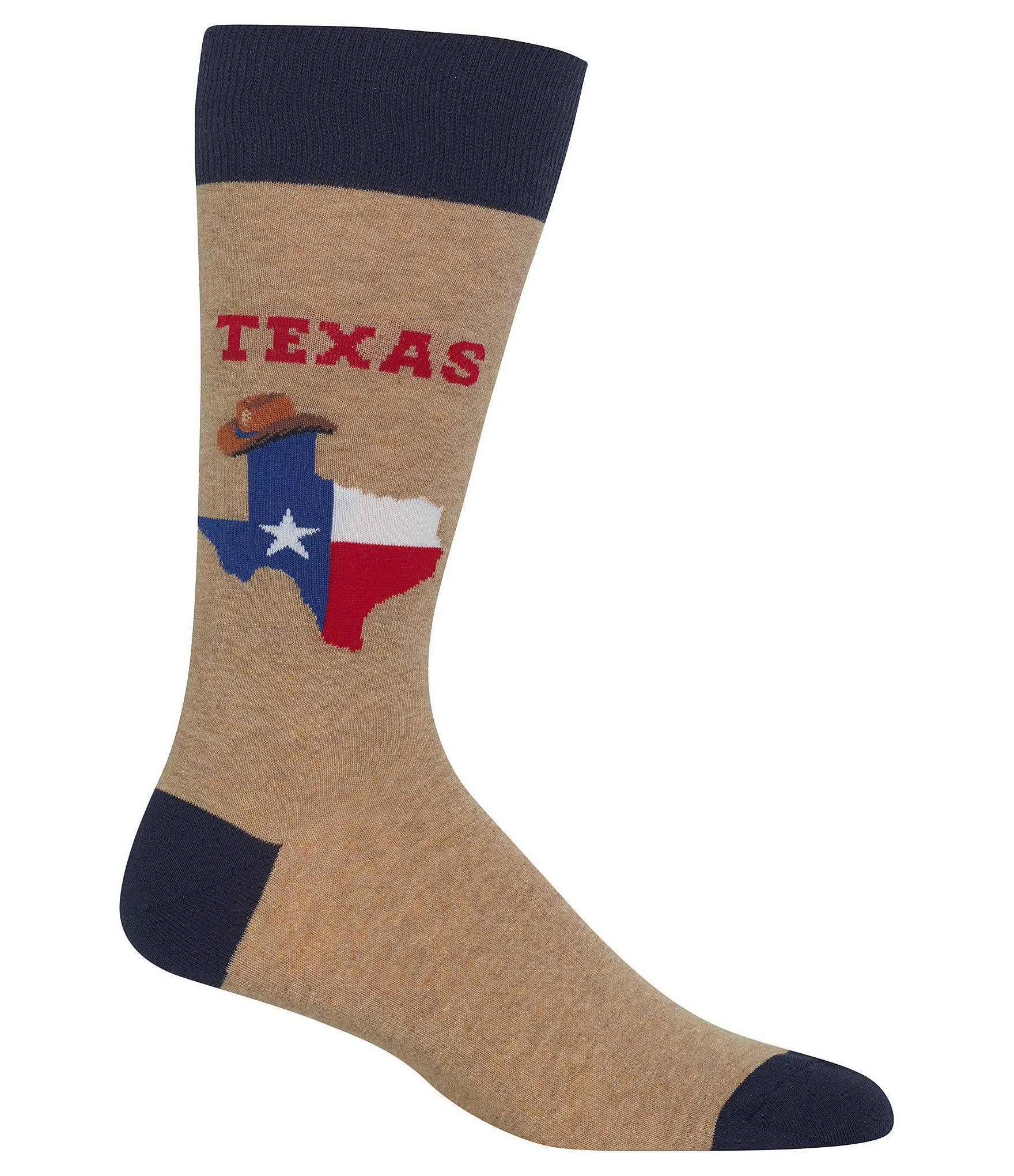 Hot Sox Men's Texas Socks - Small