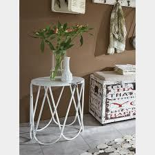 home design beistelltisch metall vintage weiß shabby chic