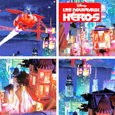 Big Hero 6 Wallpaper Probably Containing Anime Entitled French Posters Comparison Details