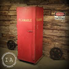 Flammable Liquid Storage Cabinet Grounding by Vintage Industrial Flammable