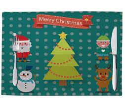 شراء ميلاد سعيد عيد الميلاد الجدول حصيرة مستطيل الكتان