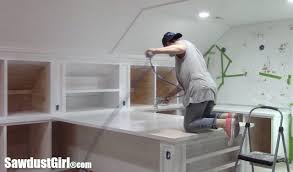 White Painted Countertops and Cabinets Sawdust Girl