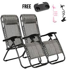 4-EVER Set Of 2 Zero Gravity Outdoor Lounge Chairs With Cup Holder & Phone  Holder Adjustable Folding Patio Reclining Chairs Patio Fniture Accsories Zero Gravity Outdoor Folding Xtremepowerus Adjustable Recling Chair Pool Lounge Chairs W Cup Holder Set Of Pair Navy The 6 Best Levu Orbital Chairgray Recliner 4ever Heavy Duty Beach Wcanopy Sunshade Accessory Caravan Sports Infinity Grey X Details About 2 Yard Gray Top 10 Reviews Find Yours 20