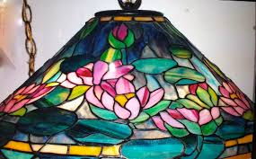Tiffany Style Lamps Canada by Tiffany Style Water Lily Stained Glass Lamp Shade One Of A