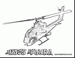 Wonderful Cobra Helicopter Coloring Page With Pages And Print
