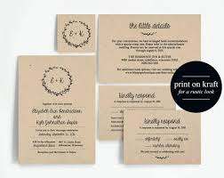 Diy Wedding Invitation Templates 7187 Plus Printable Rustic Set Instant Download