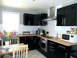 meuble haut cuisine laqué meuble cuisine noir laque globr co