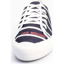 Schuhe Damen Sneaker Low Love Moschino JA15034G11 Sneakers Frau NAVY Makellos IXMKU6