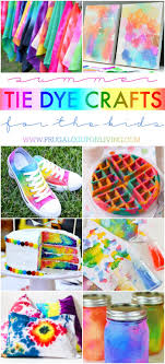 Summer Tie Dye Crafts for the Kids
