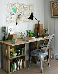 Crate Ideas Wood Desk For Garden