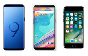 Samsung Galaxy S9 vs ePlus 5T vs iPhone 7 specs parison