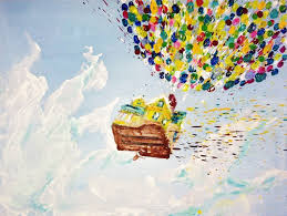 Up Melting Miltons Tags House Love Painting Movie Flying Artwork Disney Pixar Crayon Melted Ballons
